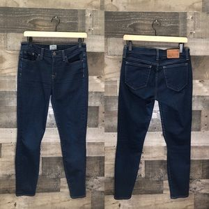 "J Crew 8"" Toothpick Skinny Jeans in Classic"